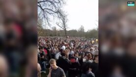 WATCH: Dutch youth gather in a Park on the first warm day of the year as businesses remain closed