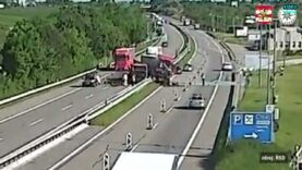 Horrific road accident as Truck collides with a stopped truck