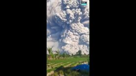 Mount Sinabung erupts in Indonesia with huge ash clouds nearly