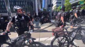 Police make multiple arrests at an Antifa-Black Lives Matter protest