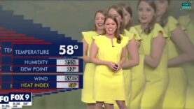 WATCH: Glitch multiplies weather woman during FOX 9 live broadcast.