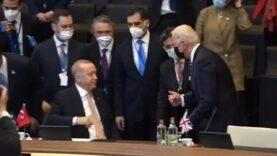 Awkward: Biden gives Turkey's Erdogan a mistimed fist bump at