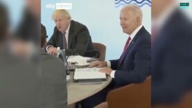 Awkward: Boris Johnson had to correct Joe Biden who wanted