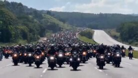 INSANE: Over a Million bikers joined a Motor Parade in