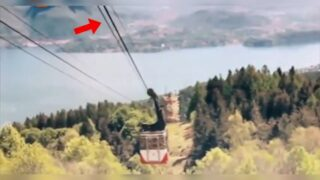Italian authorities release video of tragic moment a cable car