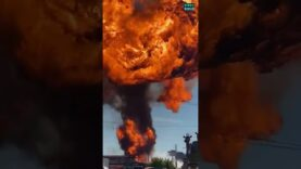 More video footage of the massive explosion at a gas