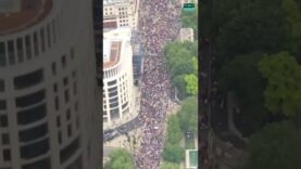 NOW: Millions march through London in biggest Anti-Lockdown protest yet.