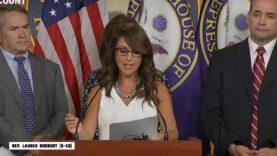 "Rep. Lauren Boebert filing a bill to censure Biden ""for"
