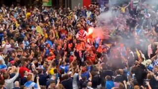 Scotland fans takeover London ahead of the EURO 2020 match