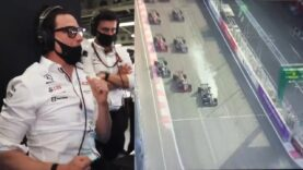 Toto Wolff's reaction of the moment Luis Hamilton missed the