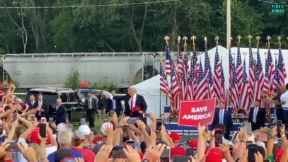 WATCH: Thousands turn out and cheer for Trump's First Post-Presidential
