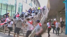 Chaos erupts at Wembley as Fans without ticket overrun Security