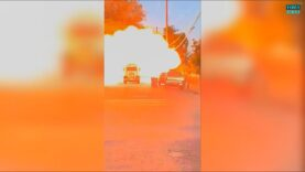 Explosion completely destroyed the LAPD Bomb Squad's explosives disposal truck.