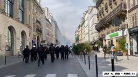 Large numbers of Riot Police Coppers deployed in Paris to
