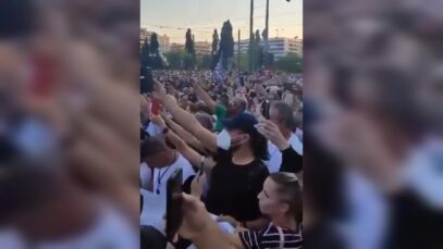 Mass Protests erupt after Greece Government imposes compulsory vaccines and
