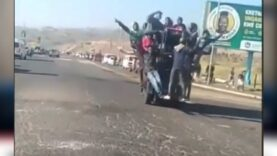 Meanwhile in South-Africa; looters having fun as nationwide chaos continues.
