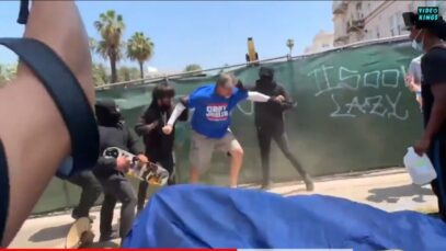 More video footage of Antifa crowds attacking protesters at the