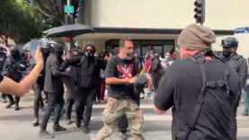 Press and reporters attacked by violent Antifa mob at the