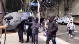 Protesters in Los Angeles outside Wi Spa harassed and threatened