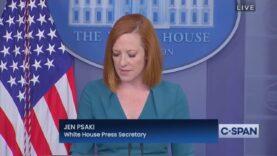 """Psaki: """"We will be going door-to-door to Americans who have"""