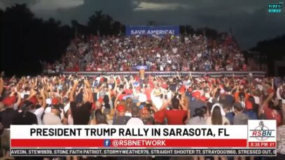 Thousands watch former President Donald Trump deliver remarks at Save