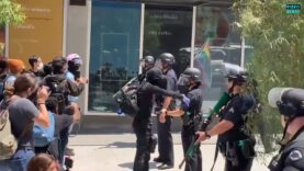 Video footage of Antifa-activists clash with protesters and LA Police