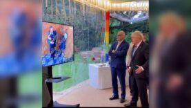 Video meme of Boris Johnson watching ex-Health Minister Matt Hancock