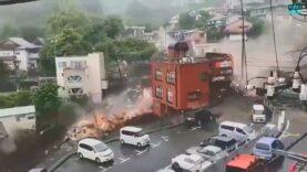 Video of huge landslide in Atami, Japan that swept away