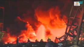 Video of the moment a huge explosion completely destroyed a