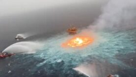 WATCH — Fire in Gulf of Mexico after underwater pipeline