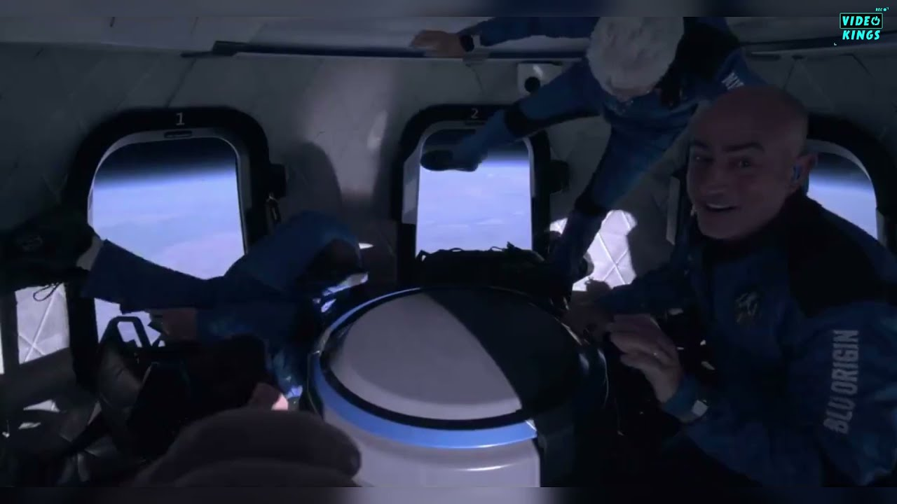 WATCH: Amazon's Jeff Bezos and three customers land after jumping