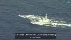 WATCH: Libyan coast guard shoots at migrant boat in the