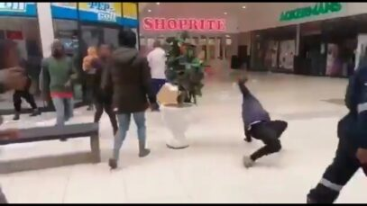 WATCH: Shop owners in South-Africa have purposely poured oil on