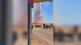 WATCH: Truck filled with fireworks explodes on the beach in