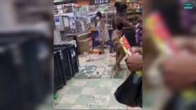 WATCH: Woman trashes entire Asian owned liquor store over a