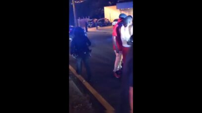 White cop responding to a shooting in Atlanta, GA forced